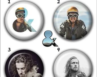 """Collection 4 Pin//Button//Badge /'Julien Doré/' Ø32mm//1,25/"""""""