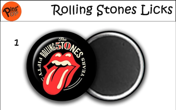 "58mm ""The Rolling Stones"" BAND Badges 4 Pack"