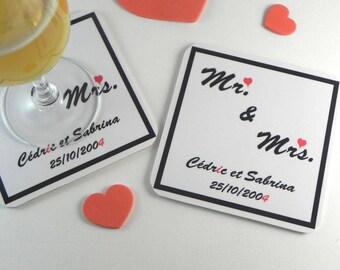 Personnalisé Plaque Stick figure Couple Cadeau Saint-Valentin Cadeau Mariage