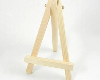 Mini wooden easel Wooden trestle Wooden table decoration named brand name place