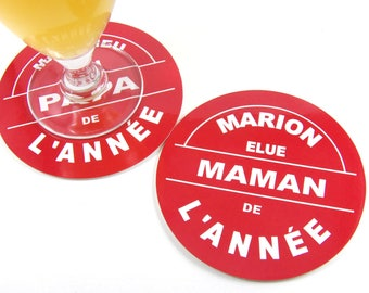 Mothers day gift coasters personalized glass coaster elected year MOM personalized gift