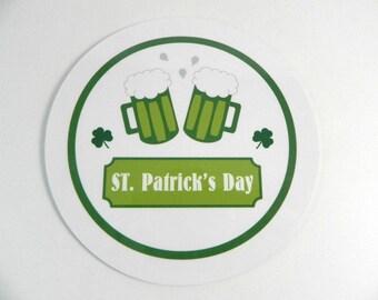 Drink coaster St. Patrick's day coaster round coaster St Patrick's Day