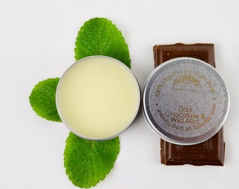 Wild Mint & Dark Chocolate Lip Balm (10ml)