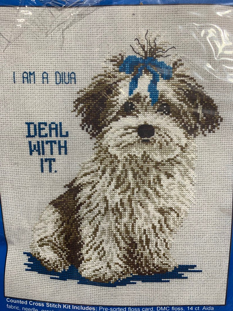 I am a Diva Deal with it cross stitch kit
