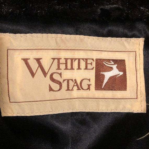 Black Faux Fur Coat, White Stag - image 5