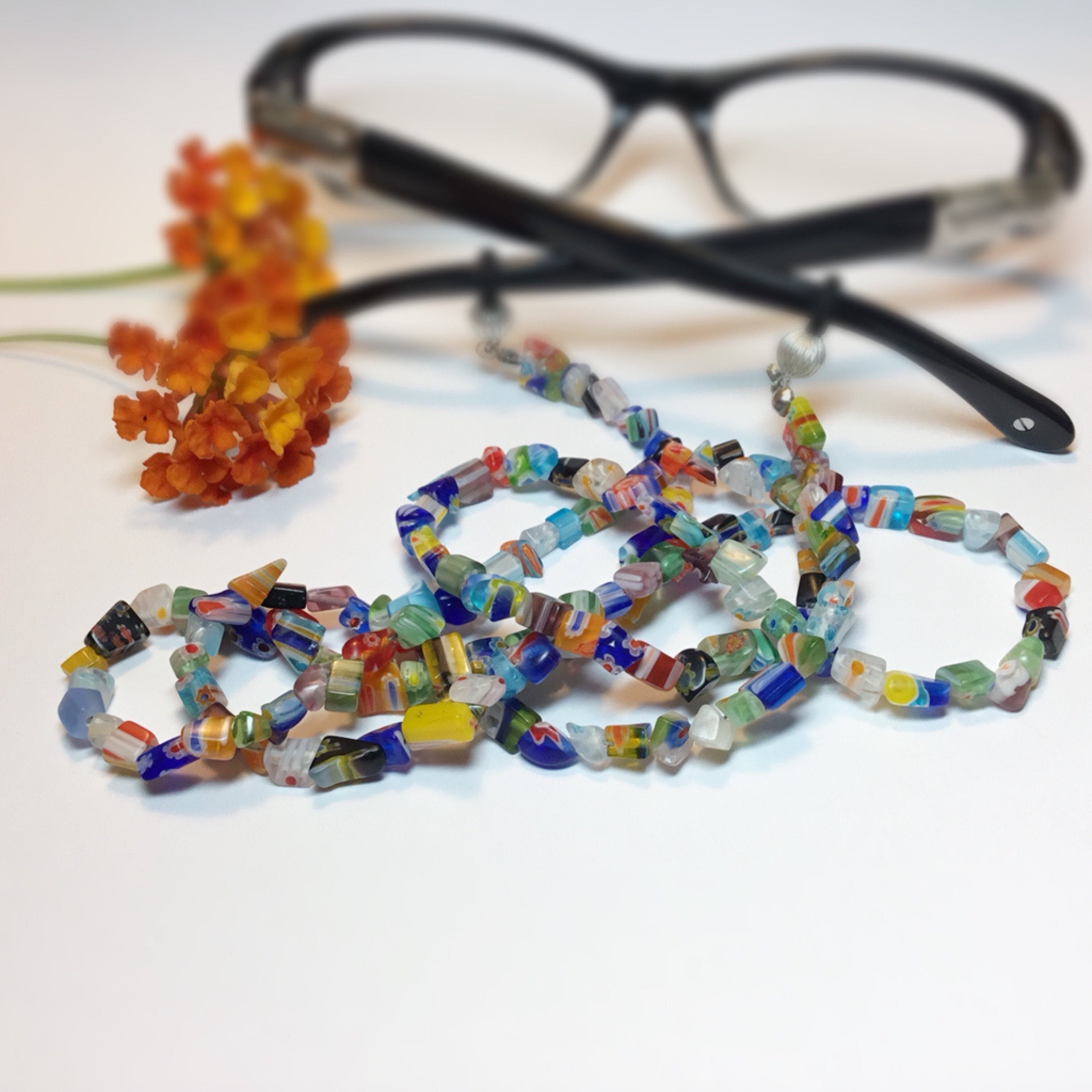 Spectacles lanyard Sunglasses Glasses Beaded Chain Necklace