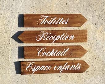 Arrows in wood, personalized wall decor, arrow wedding, wedding decor, vintage