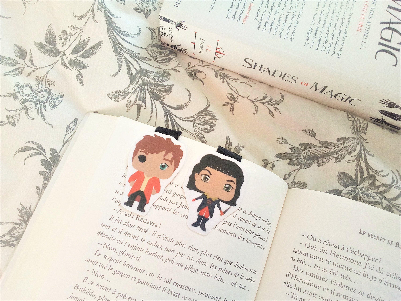Lila U0026 Kell Shades Of Magic Magnetic Bookmarks   Etsy