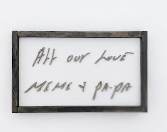 medium handwritten reproduction | Connecticut made | handwriting creation | wooden handmade