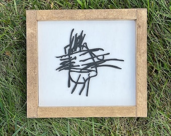 children's art reproduction | kids' art reproduction | wooden drawings from kids | gifts for mom and dad | Connecticut handmade