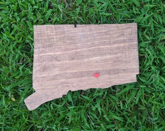 Wooden Connecticut | handmade CT | free shipping | female made
