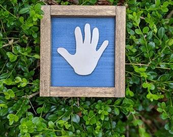 child's handprint | custom wooden handprint