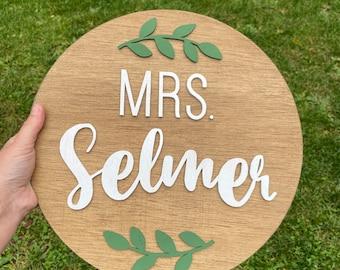 teacher gift l teacher round l wooden sign l gift for elementary teachers