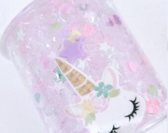 Sleepy Unicorn Fishbowl Slime