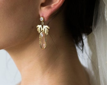 1 Paire Oreille Boucle ANTIK-Design Cristaux Or Épingle à Cheveux Pince à cheveux 379
