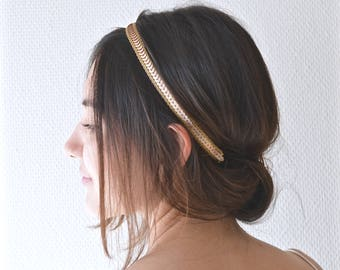 boho fine bandeau Headband beaded applications jewel head delicate metal chain wedding rose gold headband romantic bride