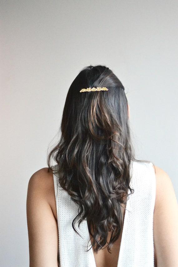 grandes variétés taille 40 nouveau sommet Bijou cheveux doré mariage. Barrette, pince, épingle, tiare diadème étoiles  or .Accessoire délicat, minimaliste, raffiné romantique dentelle