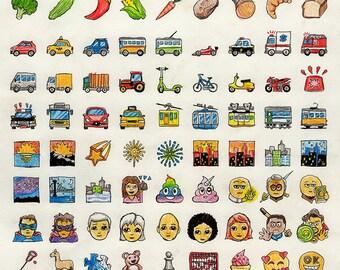 Original Art: Emojis #16