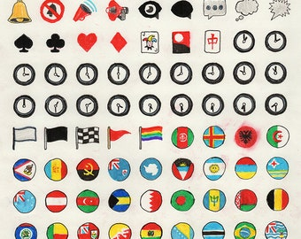 Original Art: Emojis #13