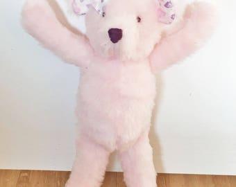 Pink faux fur Teddy bear