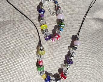HandmadeBbracelet & Necklace Set - RAINBOW