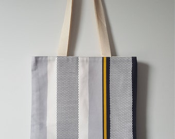 Large lined tote bag