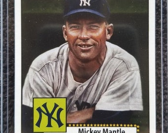 Mickey Mantle 1952 Topps 311 Baseball Card Rookie Card Mint