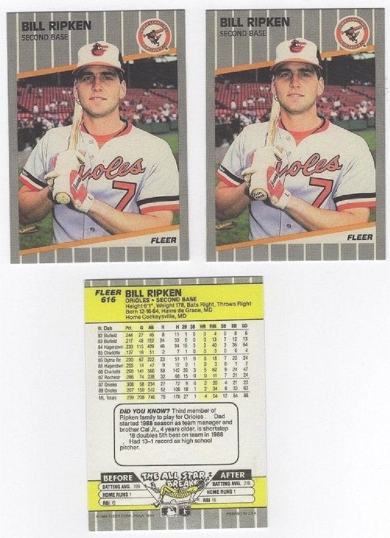 Bill Ripken Lot Of Two 2 Error 616 1989 Fleer Cards Mint
