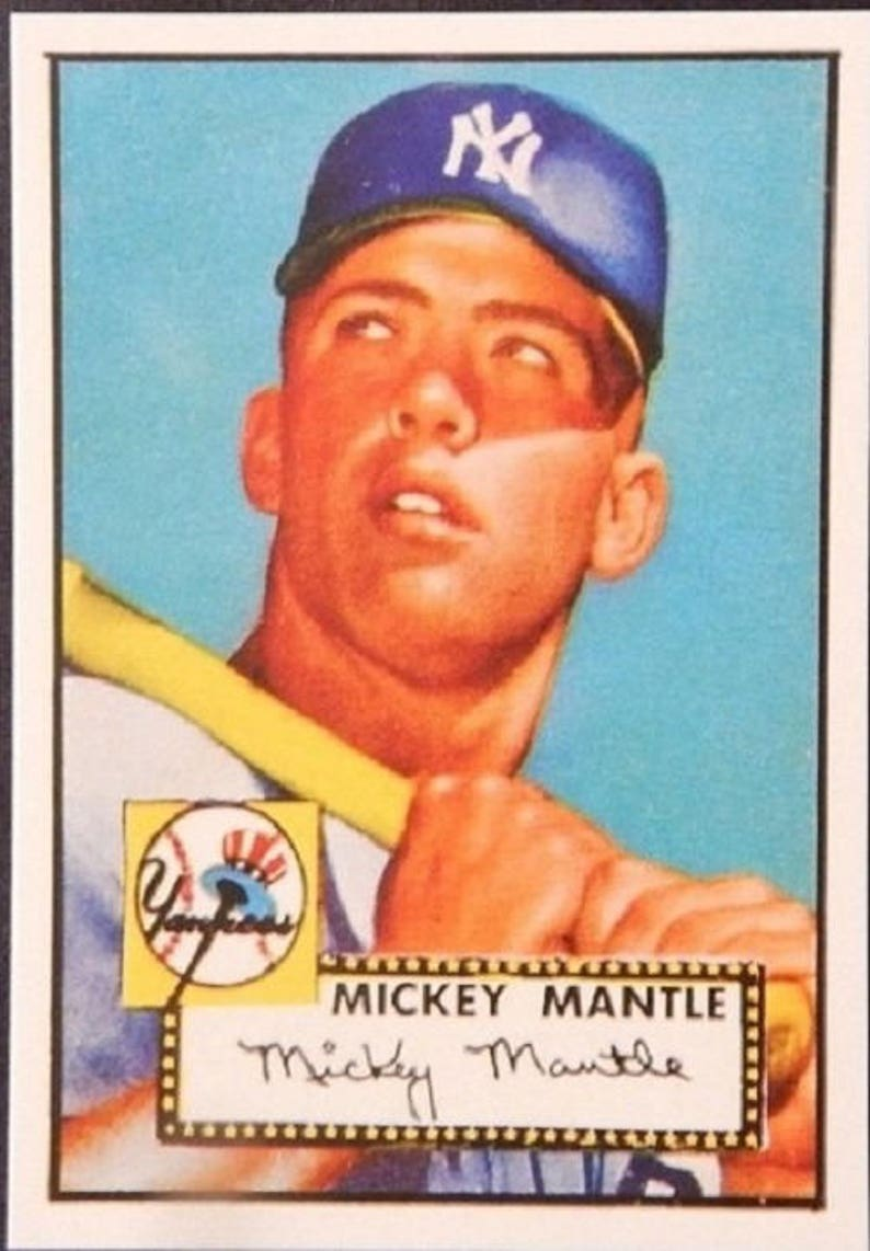 Mickey Mantle 1952 Topps 311 Baseball Card Rookie Card Mint Wow