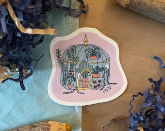 Greenhouse Plant Lovers Classroom Sticker - Cute Vinyl Die Cut Sticker