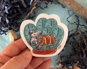 Yorkshire Terrier Classroom Sticker Dog Puppy - Cute Vinyl Die Cut Sticker
