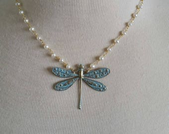 Dragonfly (Pearl & Turquoise Patina)