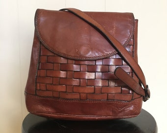 Vintage Woven Leather Purse