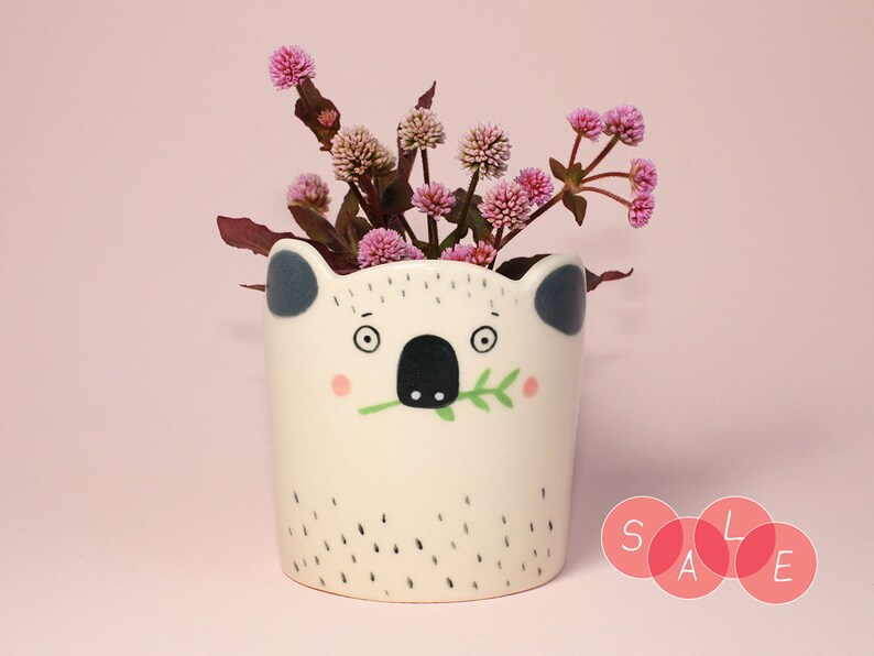 SALEHandmade by Hesukinae Studio Koala Planter Koala image 0
