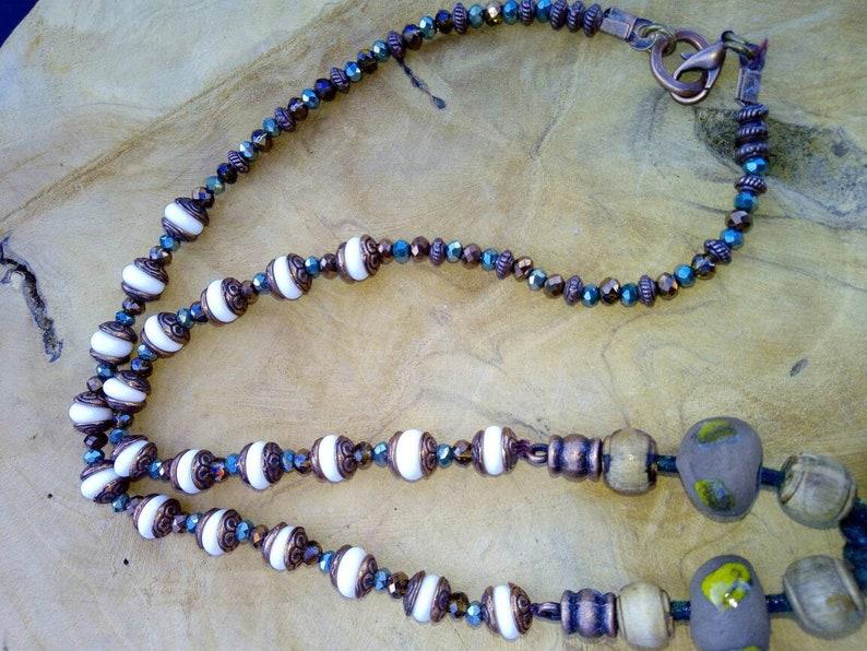 wooden pendant cabochon cat Raku The cat Lampwork Glass Bead