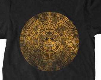 1cad4eccc Aztec Mayan Calendar - Mexica Sun Stone Short-Sleeve Unisex T-Shirt