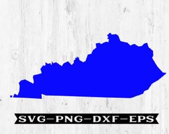 Kentucky SVG, state svg, ky svg, kentucky png, ky dxf, states svg, tn files, silhouette files, state svg files