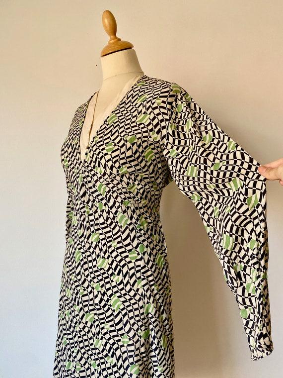 1930s Op Art Dress * Vintage 1930s Art Deco Print