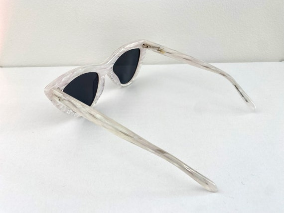 1950s Style Lucite Pearl Sunglassess * 1950s Vint… - image 3