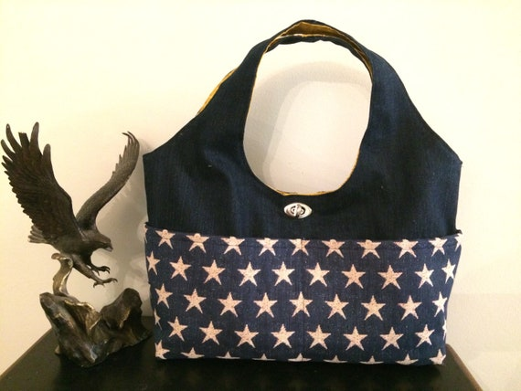 a238598f3d Denim handbag bag wears blue shoulder bag USA America