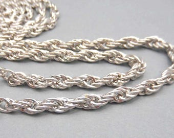 1 meter of 5mm twisted silver links chain
