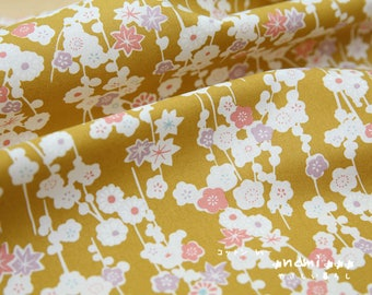 50cmx65cm yellow patchwork floral Japanese fabric coupon sewing cotton