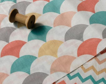 1 x coupon 50x160cm patchwork wave Cotton sewing fabric