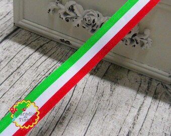 5 x 1.6 cm tricolor Ribbon braid meters Italian flag red white green