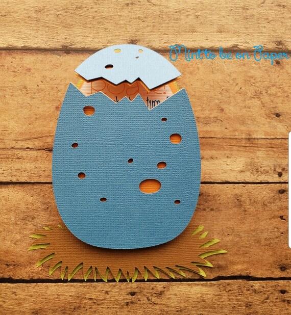 Invitación De Cumpleaños De Dinosaurios Dinosaurio Huevo Hatched Bebé Dino Baby Shower Ducha De Bebé Stock De Cartas Premium Y Glitter Fiesta De Los
