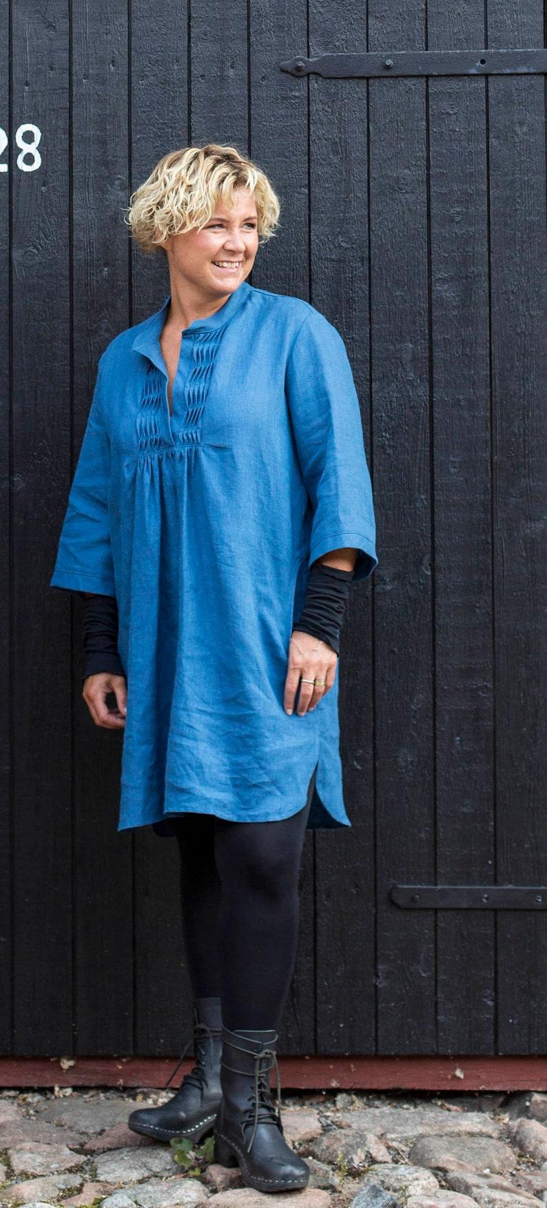 Storskjorta Lizette Paper Pattern Ladieswear Pappersm\u00f6nster Damkl\u00e4der sewing patterns