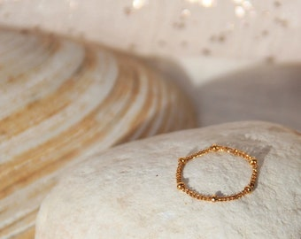 Plated satellite chain ring gold gold filled, gift idea for woman, fine jewelry by Myo jewel