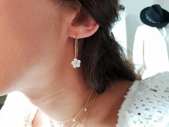 Fleur Rose 100/% naturelle quartz rose 14K plaqué or rose argent 925 Bijoux Set