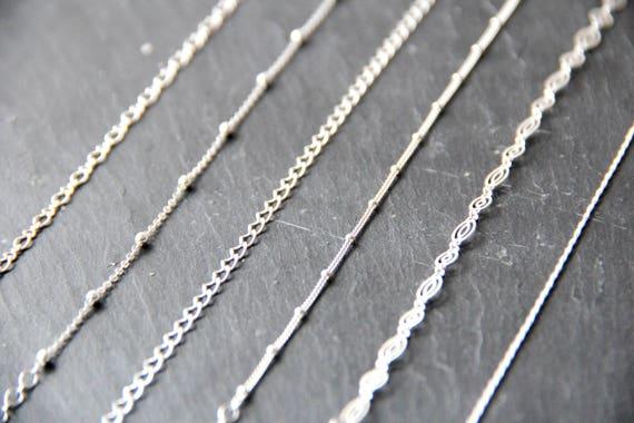 poinçon 925 lot de 10 chaînes fines  45 cm Chaînes argent