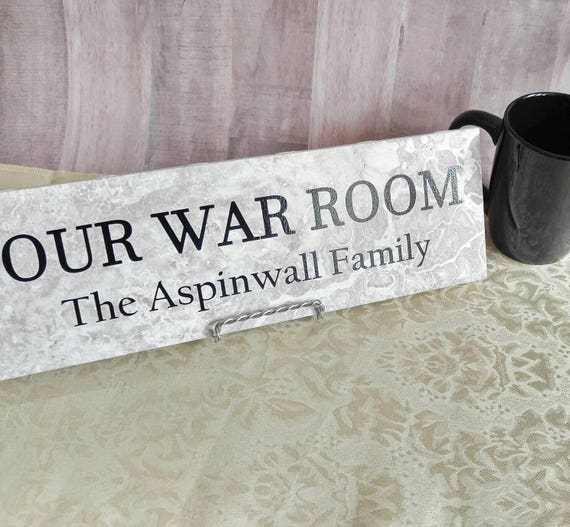 Our War Room christian wall art gifts for mom | Etsy
